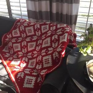 Red Heart C2C Snowflake Blanket