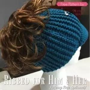 Free Crochet Messy Bun Hat Pattern