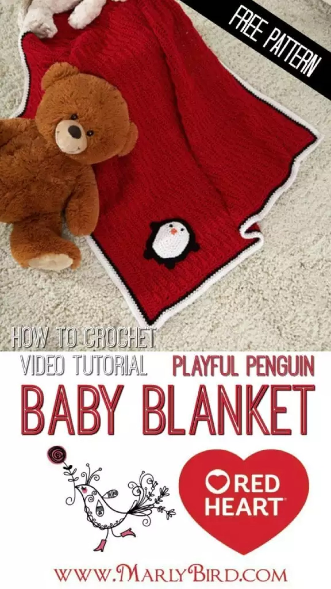 How To Crochet the Playful Penguin Blanket