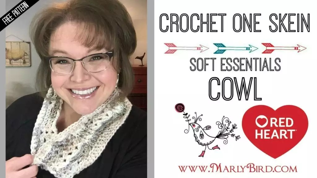 FREE Pattern-Crochet On Skien Soft Essentials Cowl