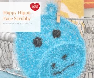 7 Months of Scrubby-Happy Hippo Face Scrubby