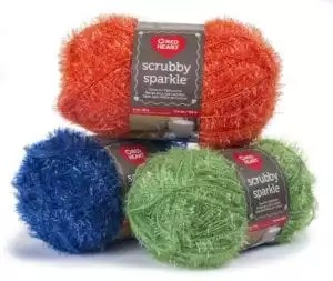 Red Heart Scrubby Sparkle