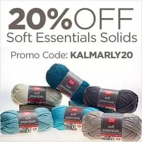 20% off Red Heart Soft Essentials Solids