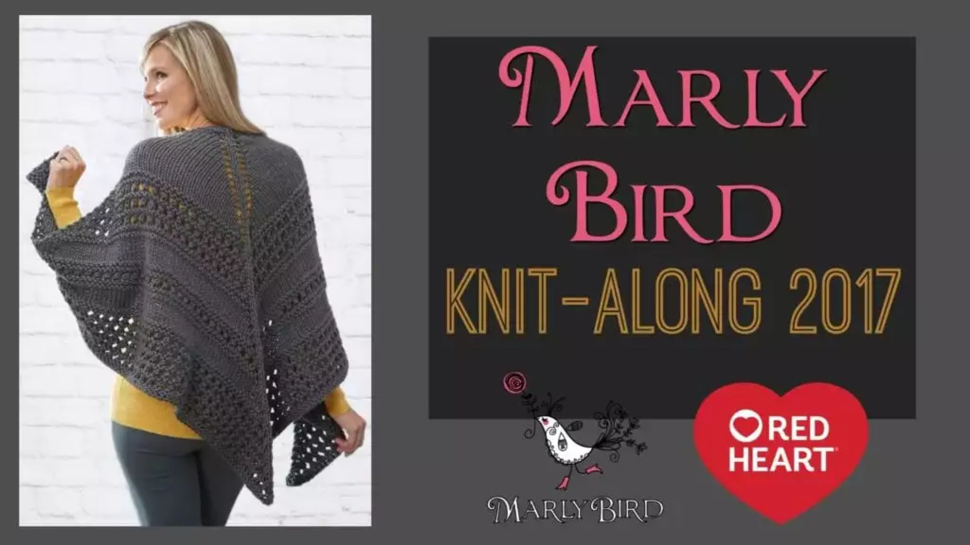 Knit Along with Marly Bird and Red Heart
