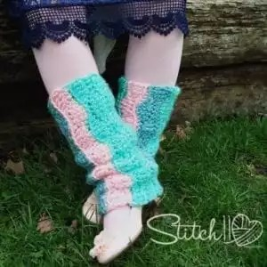 Red Heart Soft Essentials Patterns- Children's Spring Crochet Leg Warmers