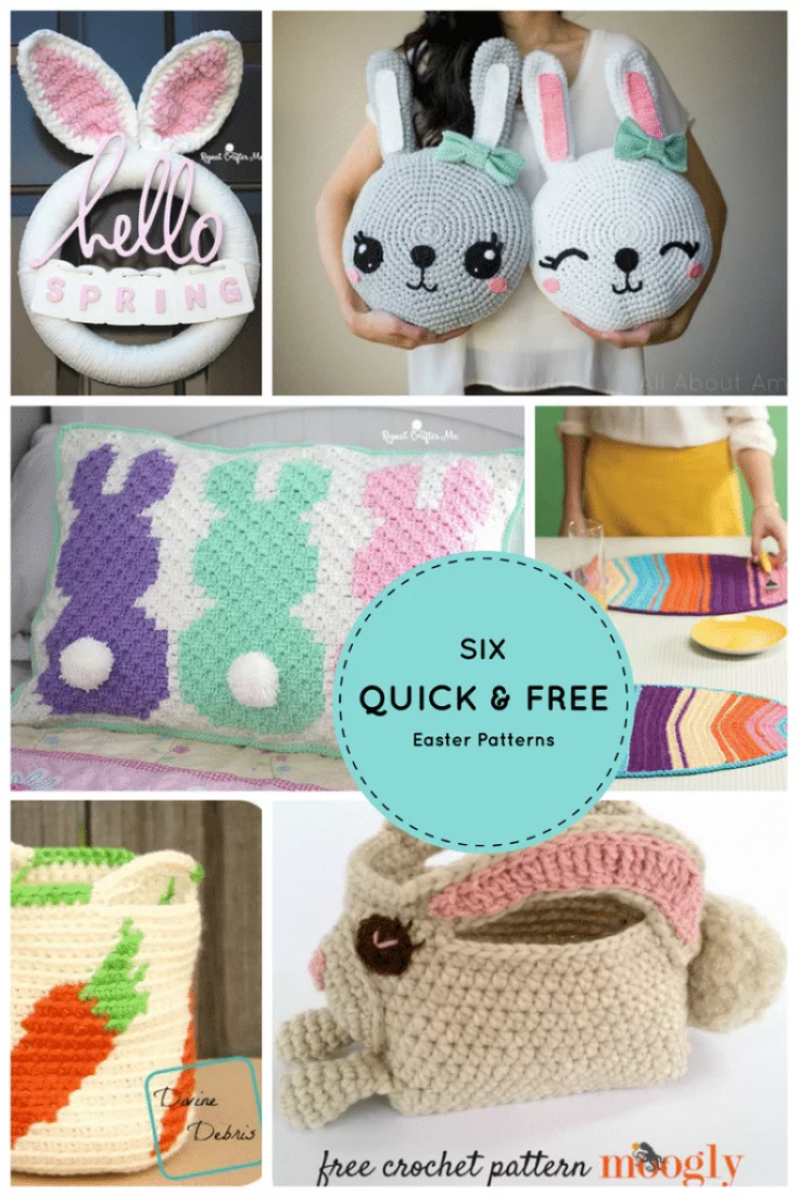 Free Easter Crochet Patterns The Best Collection | The WHOot | 1102x735