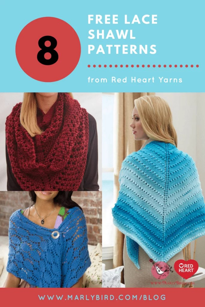Free Knit Lace Shawl Patterns - Marly Bird™