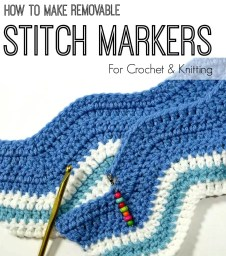 DIY Removable stitch markers tutorial
