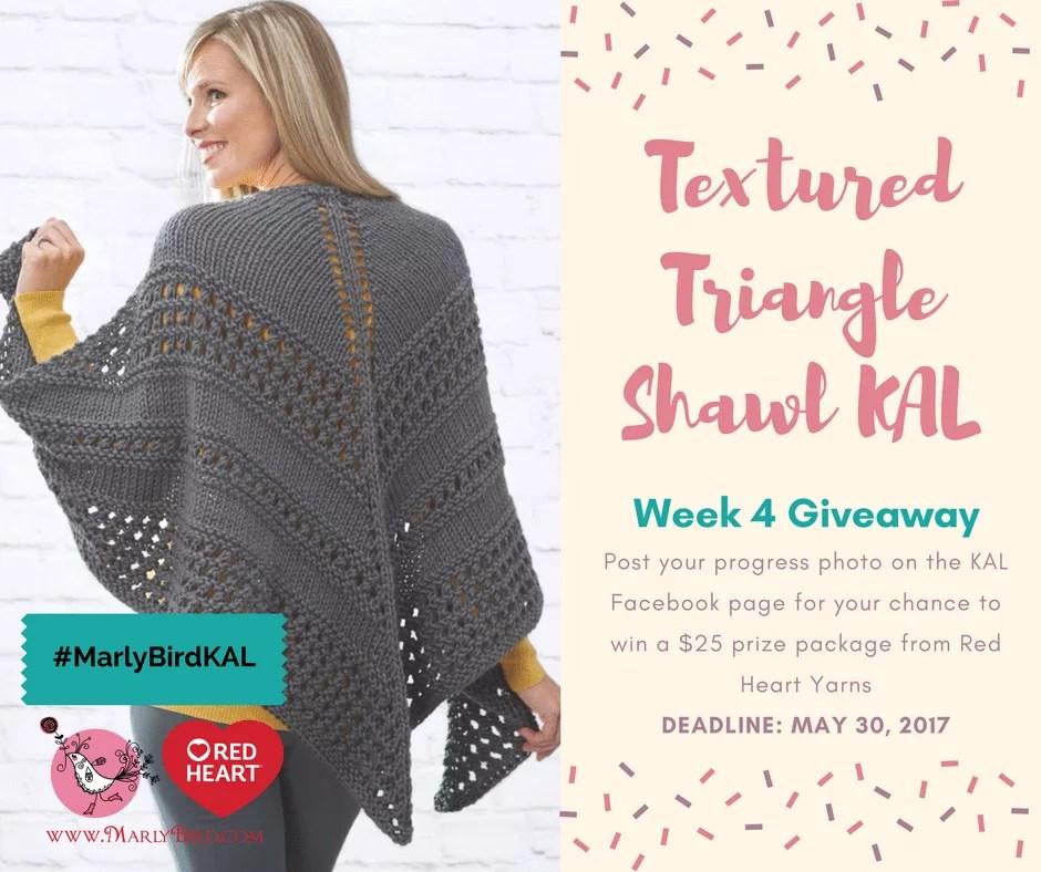 Textured Triangle Shawl Week 4