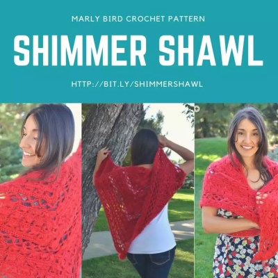 Shimmer Shawl Crochet Pattern by Marly Bird