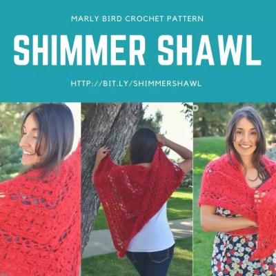 Shimmer Shawl Crochet Pattern by Marly Bird