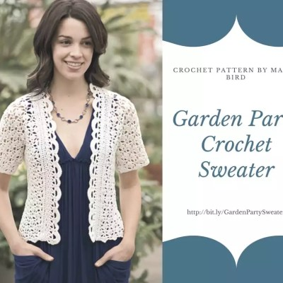Garden Party Crochet Sweater Pattern by Marly Bird
