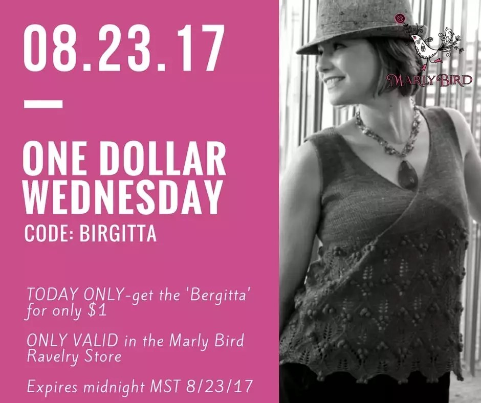 One Dollar Wednesday-Birgitta Knit Tunic by Marly Bird