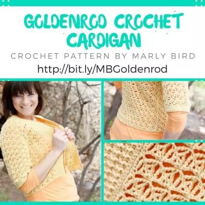 Goldenrod Crochet Cardigan Pattern by Marly Bird