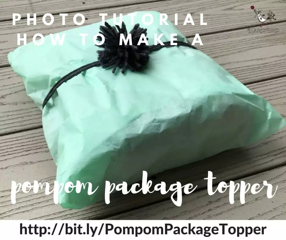 Photo tutorial for pompom package toppers