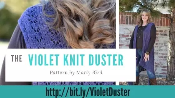 The Violet Knit Duster-Pattern by Marly Bird