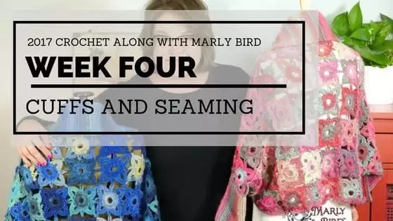 Marly Bird Granny Square Motif Cardigan Section 4 Cuffs and Seaming