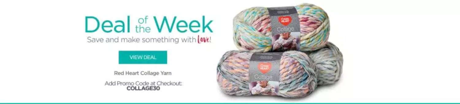 Red Heart Deal of the Week-Collage yarn