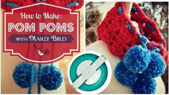 How to make pom poms with the Clover pom pom maker