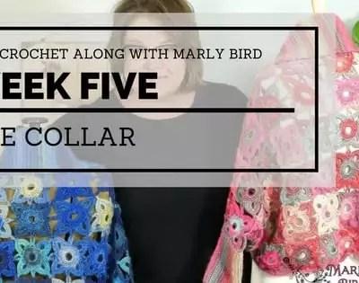 Marly Bird Granny Square Motif Cardigan Section 5 Collar