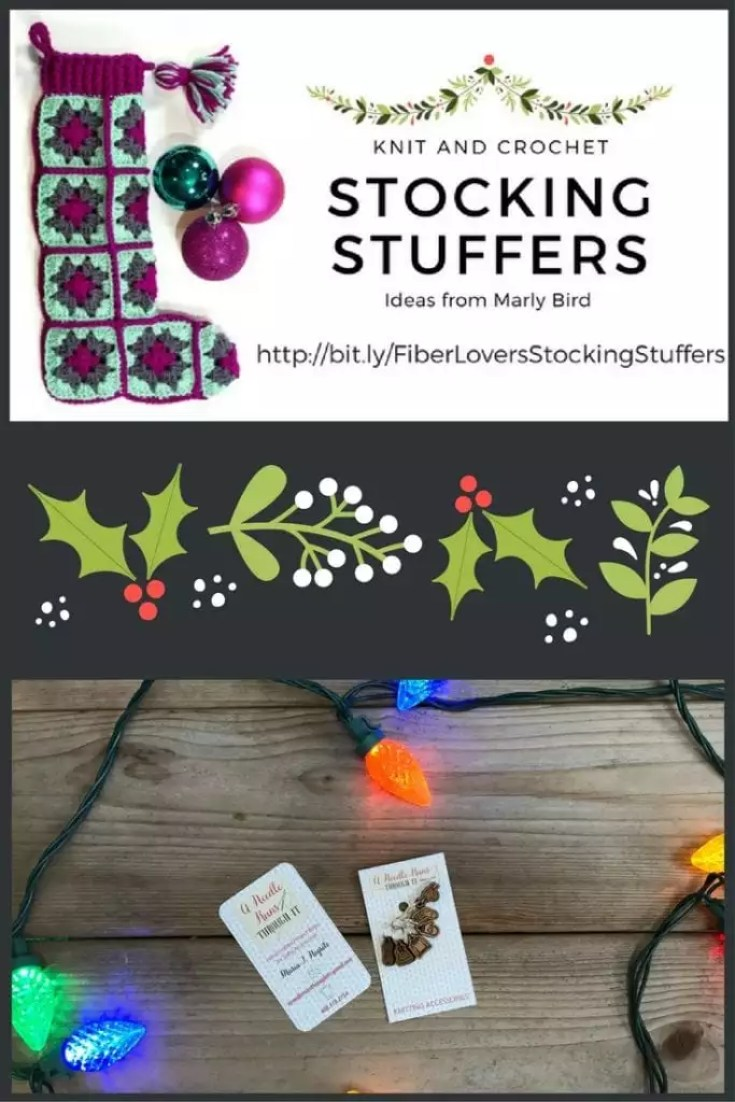Knit and Crochet Gift Ideas with A needle Runs through it