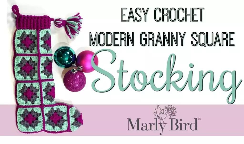 FREE Modern Granny Square Stocking