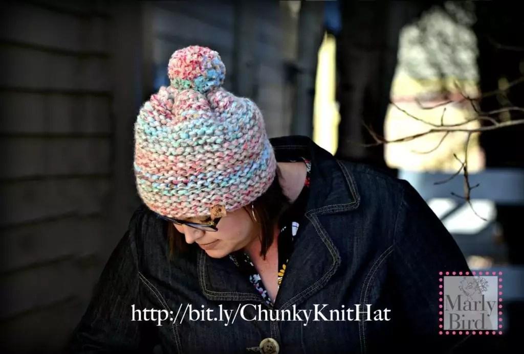 FREE Knit Beginner Hat-Absolute Beginner Chunky Hat