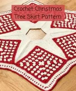 Free Crochet Christmas Tree Skirt Pattern-Crochet Christmas Tree Skirt Pattern
