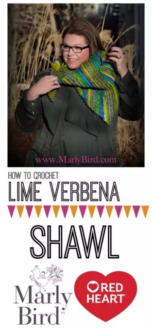 Lime Verbena Shawl by Marly Bird