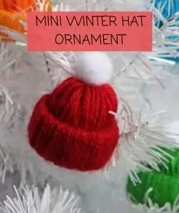 Mini Winter Hat Ornament