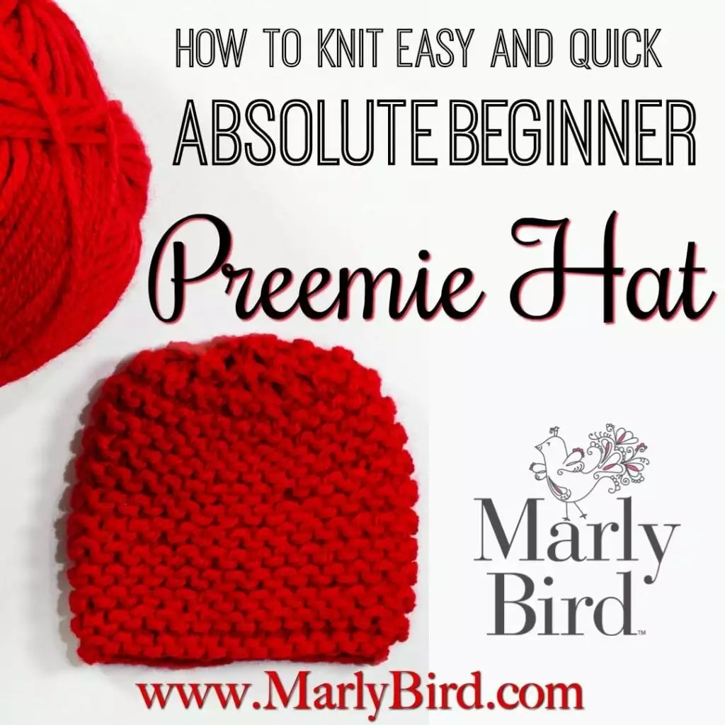 Free Beginner Preemie Hat Pattern for Charity - Marly Bird™