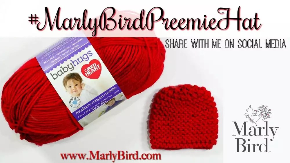 Free Beginner Preemie Hat Pattern for Charity - Marly Bird™ 30377bf2d4f