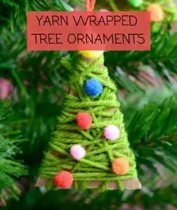 Yarn Wrapped Tree Ornaments