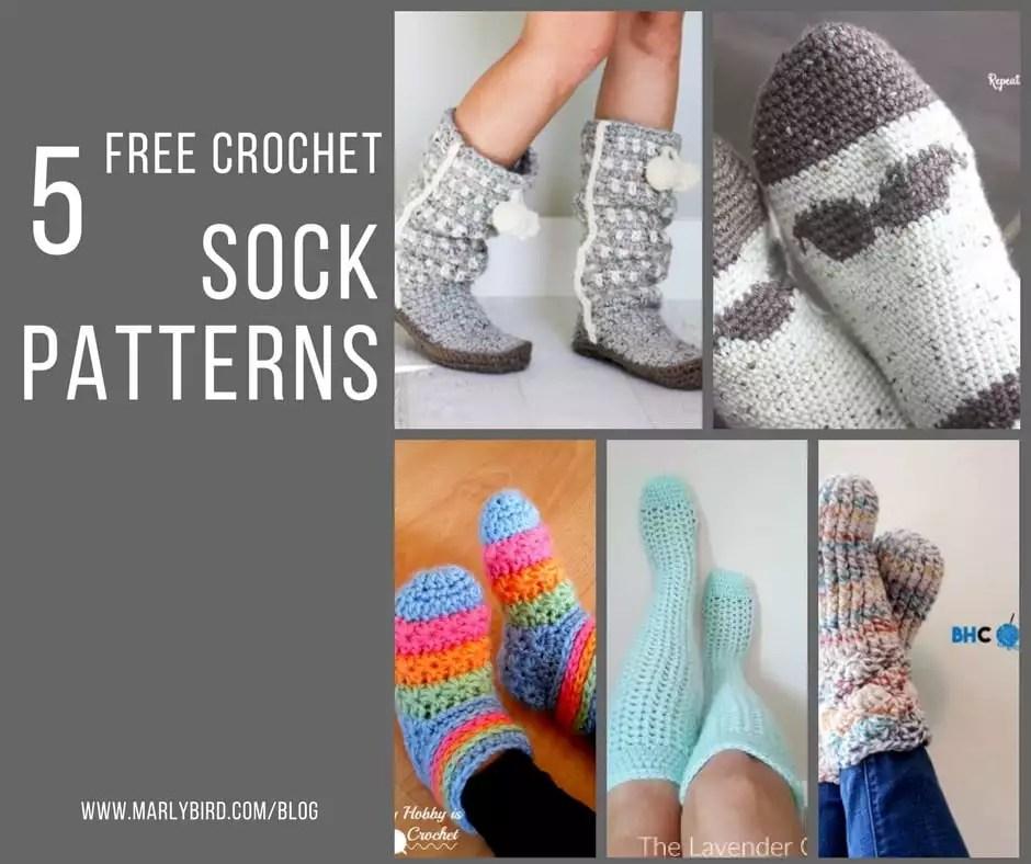 5 Free Crochet Sock Patterns Marly Bird