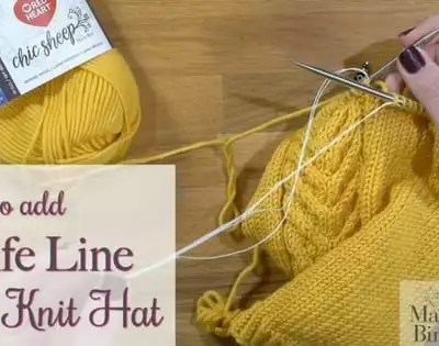 Adding a Life Line to your Knitting-Video Tutorial with Marly Bird