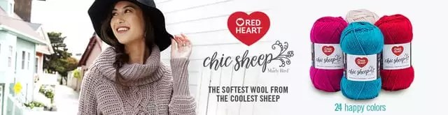 Chic Sheep by Marly Bird and Red Heart Yarns