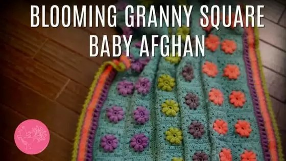 FREE Crochet Baby Blanket-Blooming Granny Square Afghan