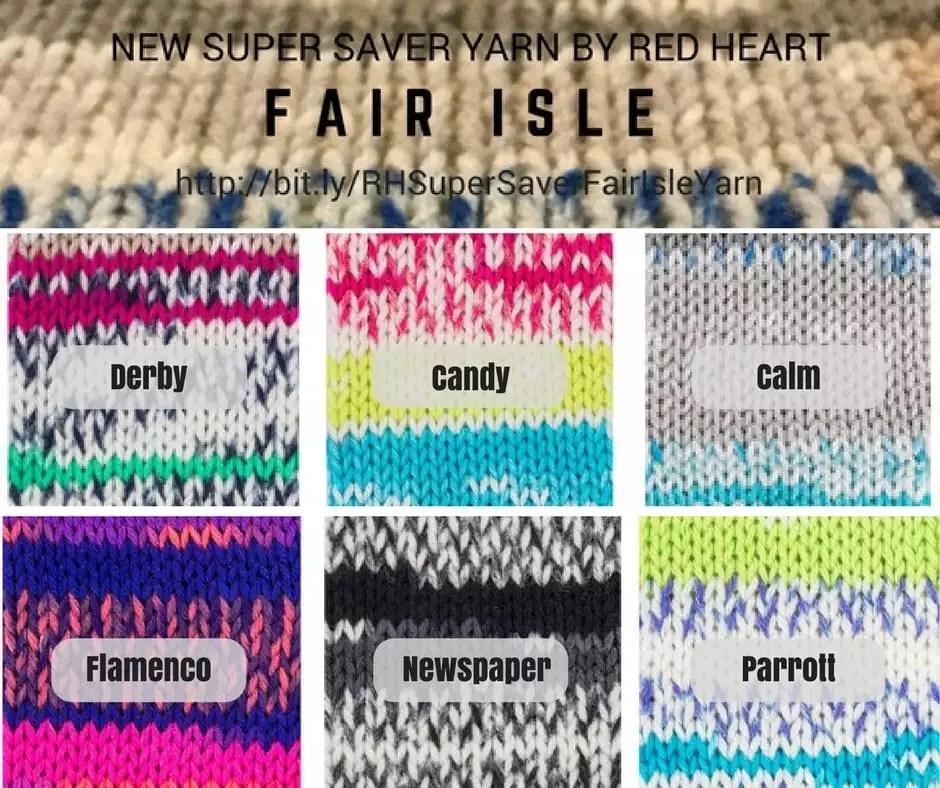 Red Heart Super Saver Fair Isle Yarn