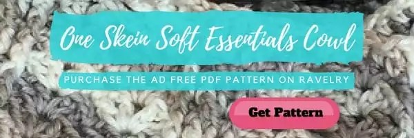 Ad Free PDF of One Skein Soft Essentials Cowl