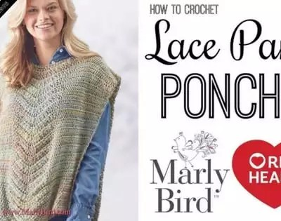 Crochet Video Tutorial-Crochet Beginner Lace Panel Poncho