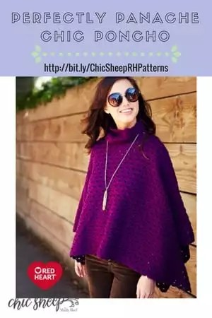 Perfectly Panache Chic Poncho designed with Chic Sheep by Marly Bird