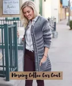 FREE pattern Morning Coffee Car Coat