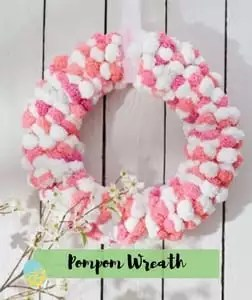 Pom Pom Wreath Easter Pattern