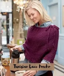 FREE pattern Tunisian Lace Poncho