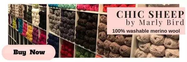 Chic Sheep by Marly Bird™ 100% washable merino wool yarn