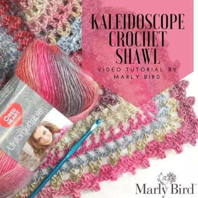 Video Tutorial How to Crochet the FREE Kaleidoscope Crochet Shawl