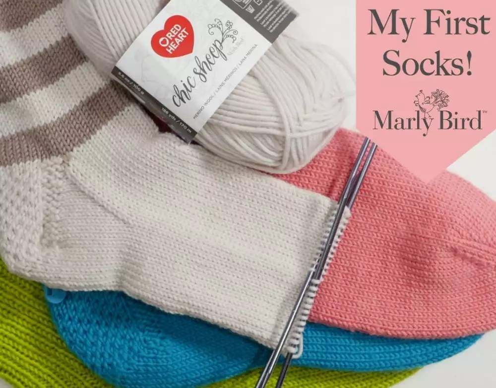 My First Socks On Double Pointed Needles Part 5 Of 6 Marly Bird