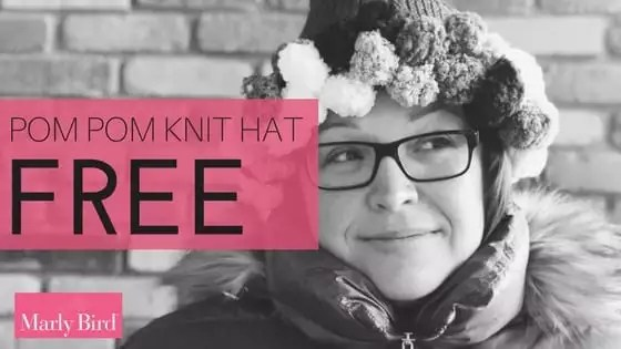 FREE Knit Pom Pom Hat with Red Heart Pomp-a-Doodle