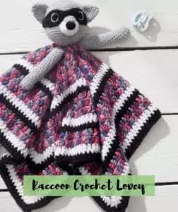 Raccoon Crochet Lovey