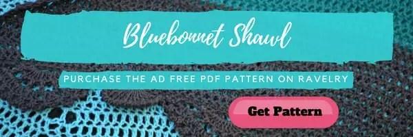 Ad Free Bluebonnet Crochet Shawl
